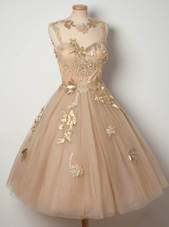 Tea Length Homecoming Dress