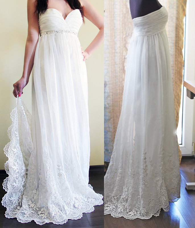 961684613f0 Sweetheart Empire Column Maternity Wedding Dresses